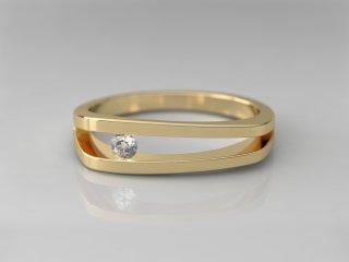 Solitario de 5.00mm en Oro amarillo 18K con 1 Diamante (total 0.06q.)