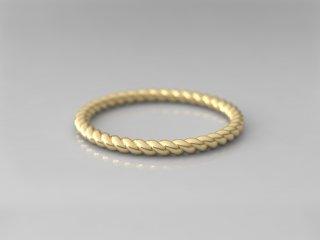 Alianza en espiral de 1.50mm en Oro amarillo 18K
