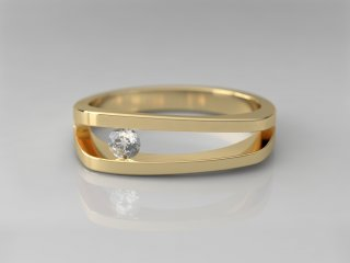 Solitario de 5.50mm en Oro amarillo 18K con 1 Diamante (total 0.1q.)